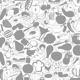 Grey background on a theme food. A vector illustrationのイラスト素材 [FYI03086311]