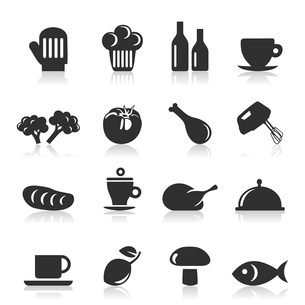Set of icons of food. A vector illustrationのイラスト素材 [FYI03086323]