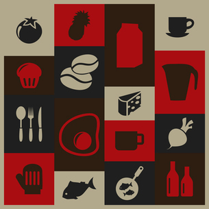 Set of icons of food. A vector illustrationのイラスト素材 [FYI03086326]