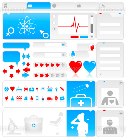 Medical site. Site on a medical theme. A vector illustrationのイラスト素材 [FYI03086348]