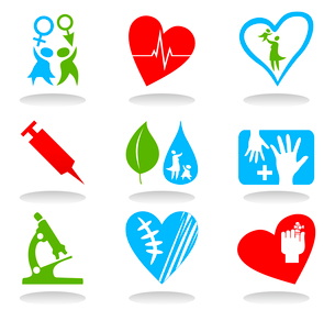Medical icons6. Collection of icons on a medical theme. A vector illustrationのイラスト素材 [FYI03086349]