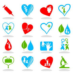 Medical icons7. Collection of icons on a medical theme. A vector illustrationのイラスト素材 [FYI03086352]