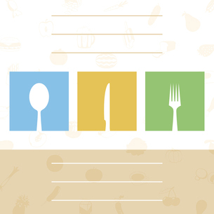 Menu of the cook2. The menu for cafe with tablewares. A vector illustrationのイラスト素材 [FYI03086368]