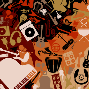 Background from musical instruments. A vector illustrationのイラスト素材 [FYI03086422]