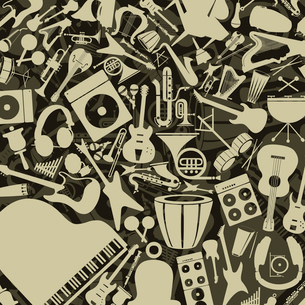Background from musical instruments. A vector illustrationのイラスト素材 [FYI03086423]