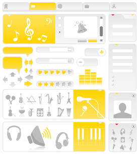 Musical site. Site on a musical theme. A vector illustrationのイラスト素材 [FYI03086479]