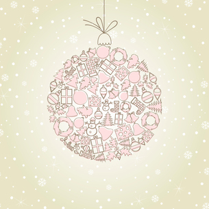 Christmas toy made of subjects. A vector illustrationのイラスト素材 [FYI03086538]