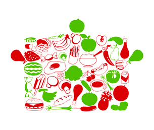 Pan. Pan made of a foodstuff. A vector illustrationのイラスト素材 [FYI03086598]