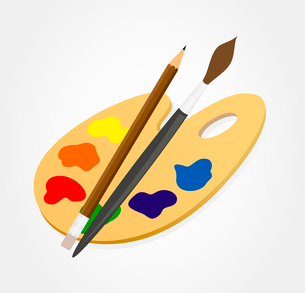 Palette3. Palette of the artist on a white background. A vector illustrationのイラスト素材 [FYI03086601]