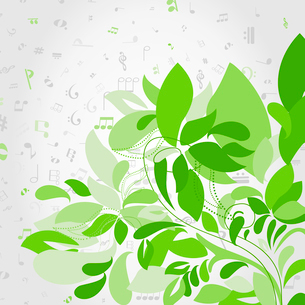 Green plant against notes. A vector illustrationのイラスト素材 [FYI03086682]