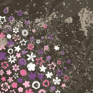 Retro a flower2. Flower grey retro a background. A vector illustrationのイラスト素材 [FYI03086709]
