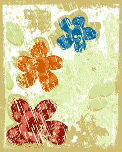 Retro a flower3. Flower grey retro a background. A vector illustrationのイラスト素材 [FYI03086710]