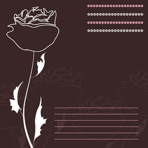 Rose. White rose on a brown background. A vector illustrationのイラスト素材 [FYI03086717]