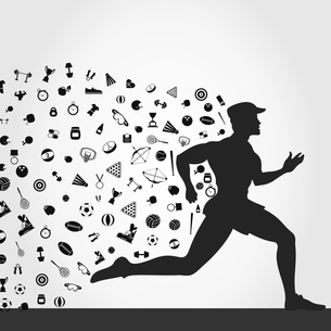 For the runner sports subjects. A vector illustrationのイラスト素材 [FYI03086728]