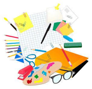 School subject. Set of subjects for school. A vector illustrationのイラスト素材 [FYI03086745]
