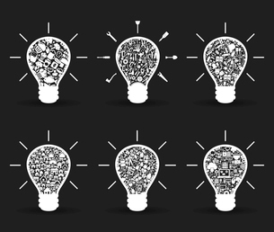 Set of bulbs for design. A vector illustrationのイラスト素材 [FYI03086797]