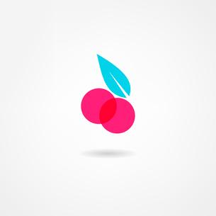 cherry iconのイラスト素材 [FYI03086819]