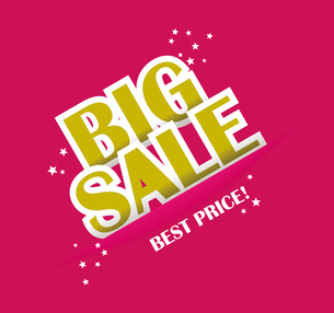 Big sale text with copy space, vectorのイラスト素材 [FYI03086831]