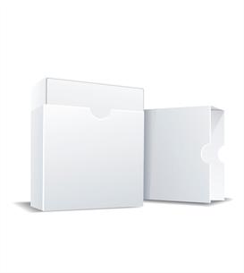 Package white box, vector illustrationのイラスト素材 [FYI03086890]
