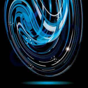 Colorful smooth twist light lines vector background. Eps 10. . Abstract Blue Background Textureのイラスト素材 [FYI03086895]