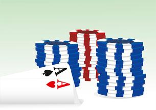 gambling illustration with casino elements. casino elementsのイラスト素材 [FYI03086907]