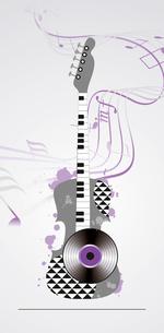 grunge musical backgroundのイラスト素材 [FYI03086987]