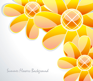 Abstract  glass flower pattern. Vector illustrationのイラスト素材 [FYI03086999]