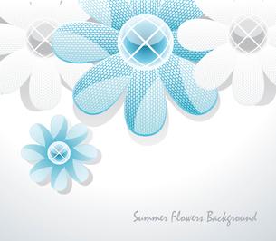 3d glass flowersのイラスト素材 [FYI03087002]