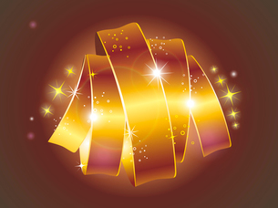 beautiful vector label sign with stars and gold ribbonのイラスト素材 [FYI03087036]