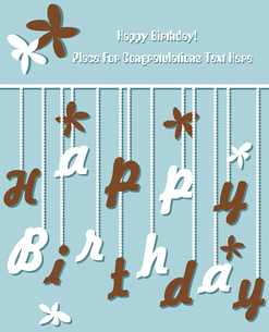 Funny Birthday cardのイラスト素材 [FYI03087051]