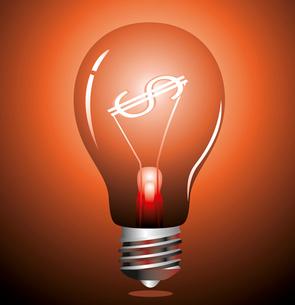 Money making idea. Light bulb with Dollar symbol. . bulb with Dollar symbolのイラスト素材 [FYI03087084]