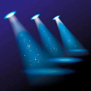 Blue spotlights. Vector illustration. . spotlightsのイラスト素材 [FYI03087099]