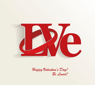 Lettering LOVE. For themes like Mother's Day, Valentine's Day, holidays. Vector illustraのイラスト素材 [FYI03087101]