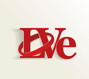 Lettering LOVE. For themes like Mother's Day, Valentine's Day, holidays. Vector illustraのイラスト素材 [FYI03087103]