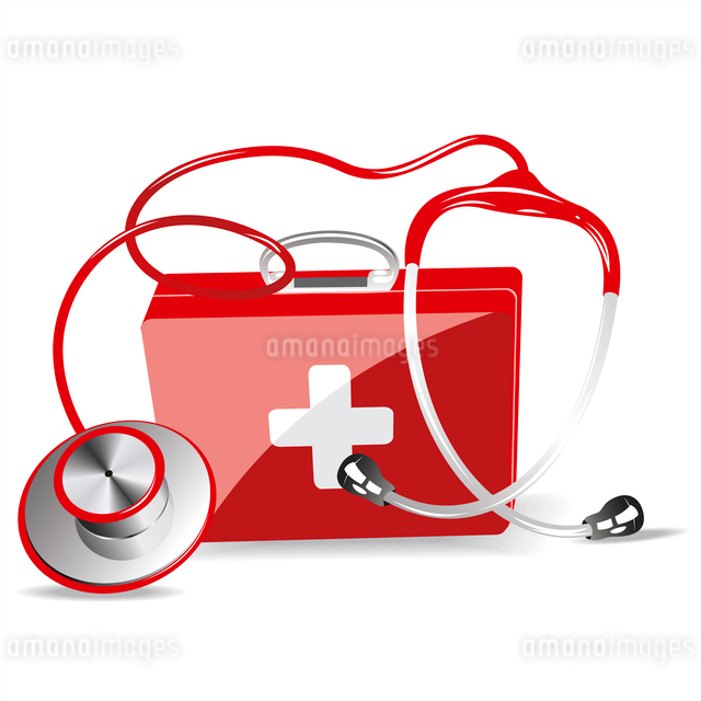 Stethoscope and First Aid Kitのイラスト素材 [FYI03087105]