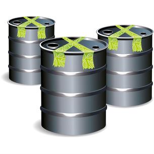 3d bio tub gas keg oil fuel drum tank butt dump cask steel vivid . keg oil fuelのイラスト素材 [FYI03087172]