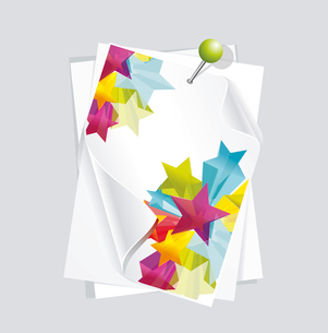 Abstract Colorful Background with white paper 3d glass stars. Vector. . white paper 3d glass starsのイラスト素材 [FYI03087185]