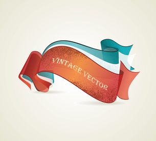 Set of retro ribbons. Vector illustration.のイラスト素材 [FYI03087196]