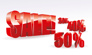 3d text  SALE . SALEのイラスト素材 [FYI03087203]