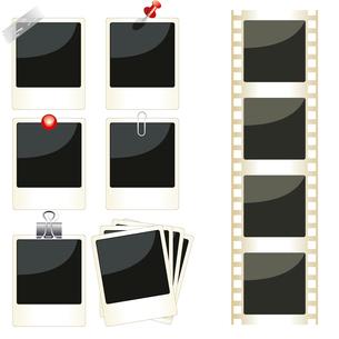 Vector instant photo frames setのイラスト素材 [FYI03087214]