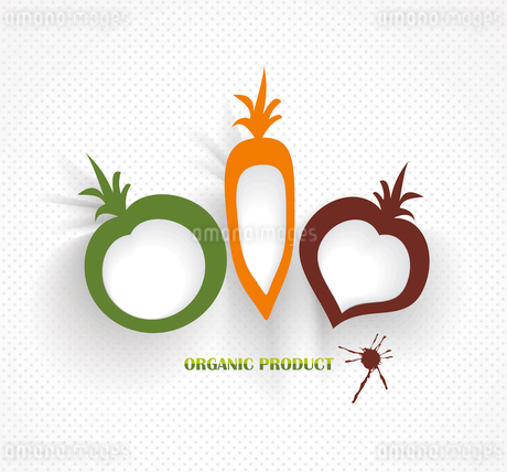 organic and farm fresh food badge and labelのイラスト素材 [FYI03087249]