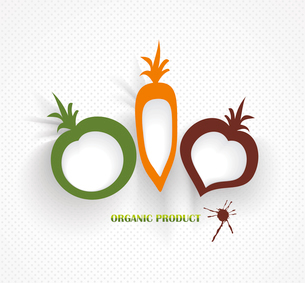 organic and farm fresh food badge and labelのイラスト素材 [FYI03087249]