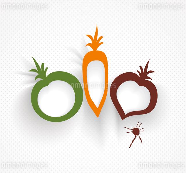 organic and farm fresh food badge and labelのイラスト素材 [FYI03087254]
