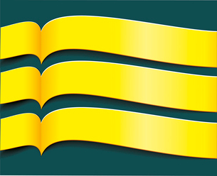 Vector bright yellow banners or ribbons setのイラスト素材 [FYI03087268]