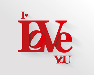 Lettering I LOVE YOU. For themes like Mother's Day, Valentine's Day, holidays. Vector ilのイラスト素材 [FYI03087297]