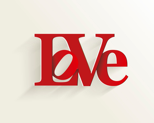 Lettering LOVE. For themes like Mother's Day, Valentine's Day, holidays. Vector illustraのイラスト素材 [FYI03087299]