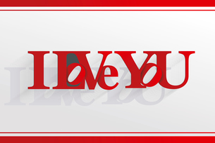 Lettering I LOVE YOU. For themes like Mother's Day, Valentine's Day, holidays. Vector ilのイラスト素材 [FYI03087300]