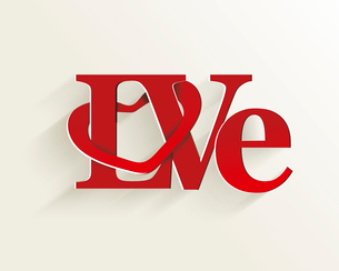 Lettering LOVE. For themes like Mother's Day, Valentine's Day, holidays. Vector illustraのイラスト素材 [FYI03087304]