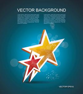 Two gold stars. 100% satisfaction guarantee. Vector cinema background.のイラスト素材 [FYI03087330]