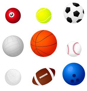 Sports balls2. Set of sports balls. A vector illustrationのイラスト素材 [FYI03087416]
